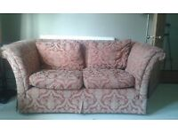 Two Seater, fabric sofa.