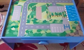 Childs Wooden Car Play Table.