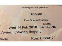 Erasure concert tickets x 2 at Ipswich regent - 14.2.18