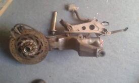 Honda nt 650 swing arm, wheel and brakes