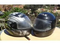 Two Motorcycle Helmets