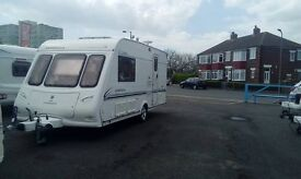 2003 COMPASS OMEGA 482 SINGLE AXLE LIGHTWEIGHT 2 BERTH TOURING CARAVAN