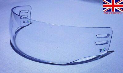 High Quality Pro Cut Ice Hockey Visor Clear anti-fog anti-scratch Vision  Anti Fog Hockey Visor