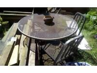 Free Large Round Metal Garden Table