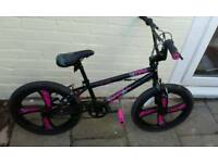 Ex demo pink bmx bike. Also available in red.