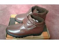 Men's Brown Leather Tough Fastening Boots