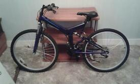 12 gear folding mountain bike for sale good condition no markings was a gift but never used