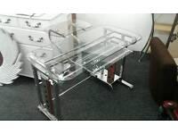Glass/Metal Modern Office Desk