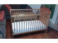 Lovely cot bed with mattress