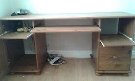 Genuine pine workstation/desk