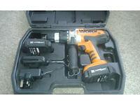 Worx 18v Cordless hammer drill WX368.3