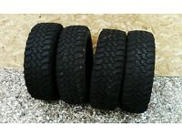 Nobbly Tyres Dakar 235/70 R16 set of 4