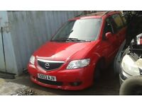 2003 Mazda MPV 2.3 5dr red manual BREAKING FOR SPARES
