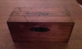 Vintage Wooden Puzzle Money Box.