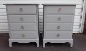 vintage antique stag drawers x 2