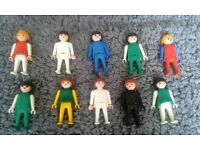 Set of 10 Vintage 1974 Playmobil Adults. (Less than £1 Per Person)