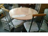 Dining table with 4 chairs £68