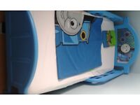Thomas Tank Junior Bed with mattress, duvet cover and pillowcase.
