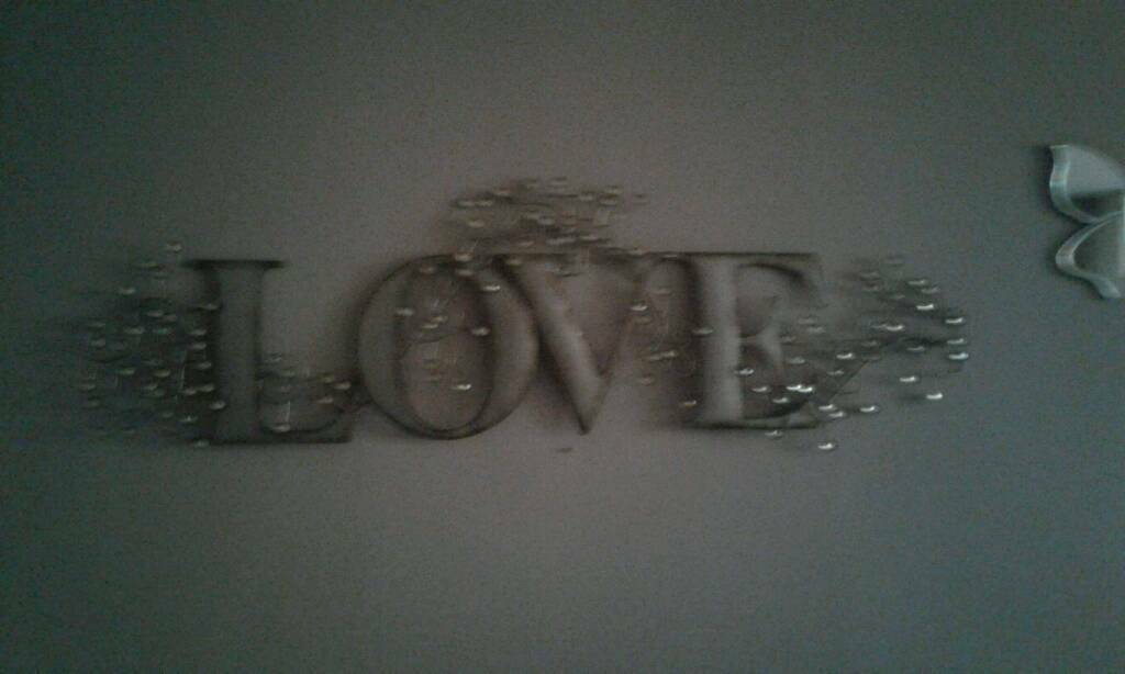 Stainless Steel Love Plaque.