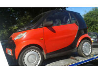 2003 Smart City Coupe Pure 2dr Auto 61 Red black auto BREAKING FOR SPARES
