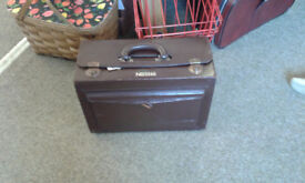 Vintage Nestle brown leather salesman sample case