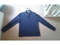 Hugo boss medium navy long sleeve polo