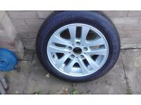 Genuine BMW wheel with winter tyres on. Size 205/55/R16