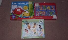 Childrens game and jigsaw