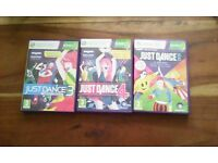 Just Dance 3, 4 & 2015 xbox360