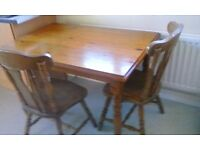 REDUCED FOR QUICK SALE - Kitchen/Dining Pine Table and chairs