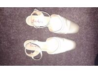 Ivory Satin Wedding Shoes Size 4