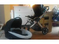 Oyster Babystyle Pram with Carrycot, car seat & Accessories