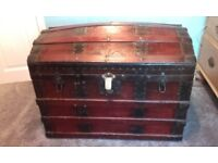 vintage chest trunk toy box