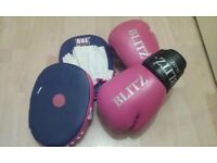 Boxing gloves and focus mits