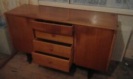 Retro 60s solid wood sideboard -