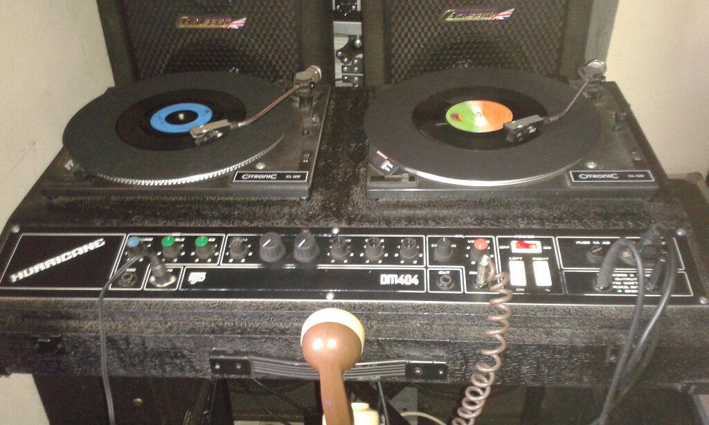 retro vinyl cd disco setup citronic turntables northern soul disco 39 s man cave retro dj or. Black Bedroom Furniture Sets. Home Design Ideas