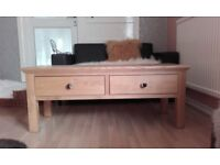 Kinsbury Oak Coffee Table with 2 Drawers