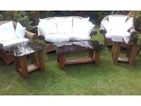 Conservatory six piece Rattan top of the range
