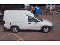 White Vauxhall Van