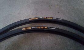 2 Bike Tyres Continental Gatorskin 700 x 23