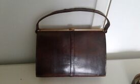 Beautiful lizard skin handbag with matching belt, lovely condition, believed 50's