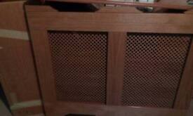 Teak effect radiator cover