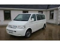 vw t5 transporter wheel chair taxi bus 8 seater