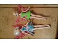 Tinkerbell and Periwinkle dolls.