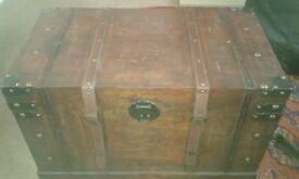 Dark brown wooden chest/trunk