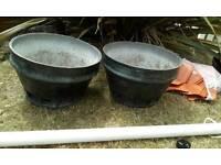 Beer Barrel Flower Pots Vintage
