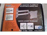 LCD/plasma tv adjustable swing arm