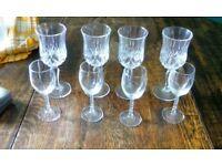 Set 4 Wine Glasses & 4 Sherry Glasses