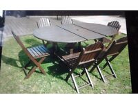 6 seater outdoor table and chairs