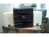 Technics midi separates Hifi with JBL control speakers unbelievable sound
